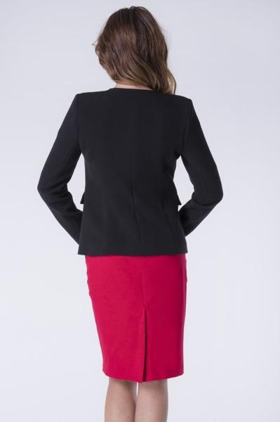 Jacket black with Hook fastening