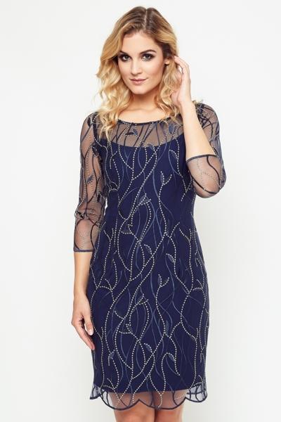 "Granatowa sukienka ""Laura"""