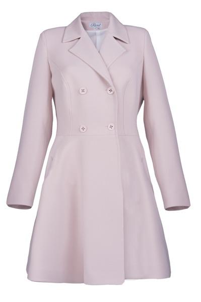 Płaszcz pudrowy rozkloszowany